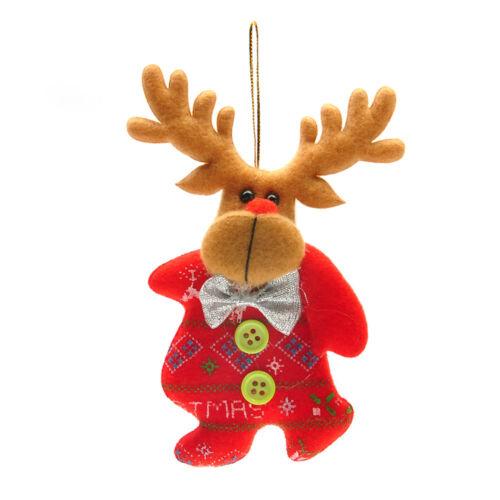 Multi Style Cute Pretty Christmas Snowflake Elk Tree Hanging Ornament Home Decor