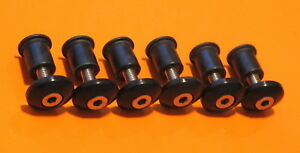DUCATI-900SS-FAIRING-CUP-WASHERS-RUBBER-NUTS-BLACK-SILVER-ZINC-BOLTS-20MM-LONG