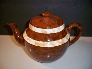 VINTAGE-TEAPOT-PRICE-BROTHERS-ENGLAND-BROWN-AND-IVORY