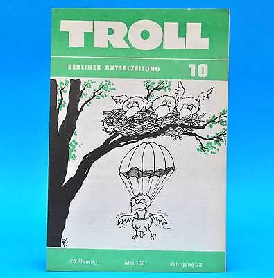 Ausdauernd Troll 10 Mai 1981 | Ddr Rätsel | Kreuzgitter Schachecke | Geburtstag X