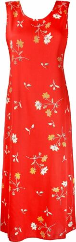 Women/'s Floral Printed Dress Sleeveless Dresses Viscose Fabric