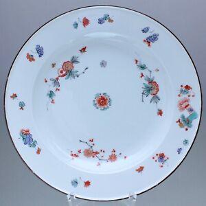 Meissen-Speiseteller-nach-altem-Vorbild-indianische-Blumen-Garbenmuster-Teller
