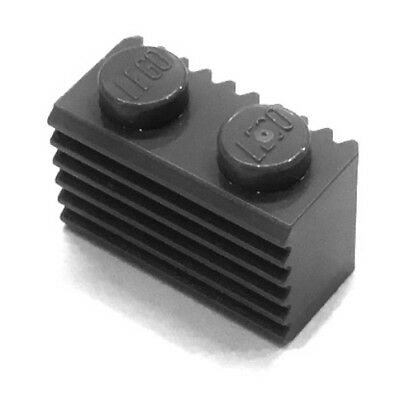 NEW LEGO Lot of 50 Black 1X2 Grille Bricks Profile Wall 2877 Building Parts
