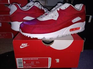 lava dueño Ciudad Menda  Womens Nike Air Max 90 SE Iridescent Hyper Crimson White wmns 1 95 97  881105 800 | eBay