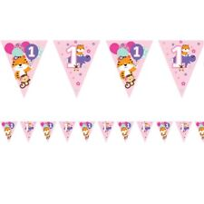 Cute Pink Fun To Be One Girls 1st Birthday Paper Bunting 12ft Long