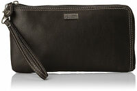 Buxton Westcott Rfid L-zip Expandable With Removable Strap Wallet, Black