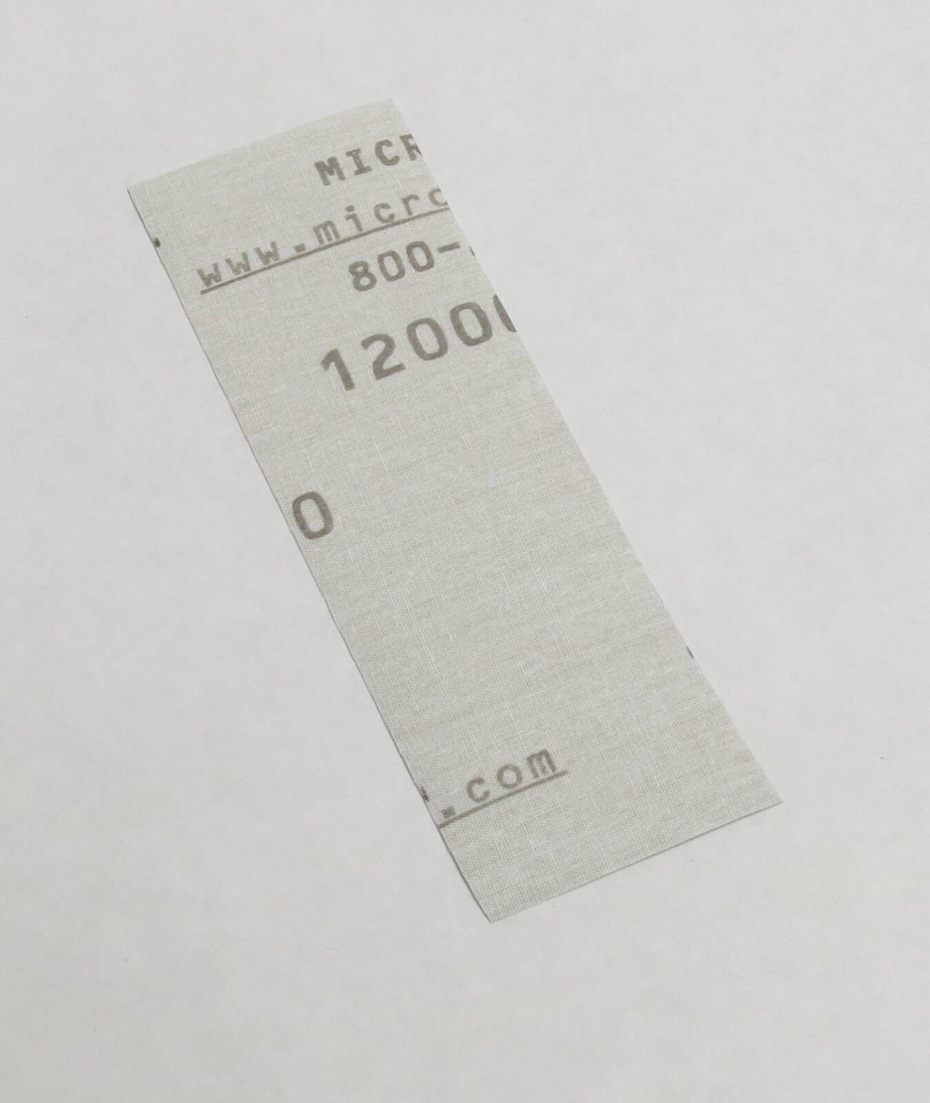 "Micro-Mesh Regular Finishing Sheet 1 pc 3/"" x 6/"" 8000 grit sheet"