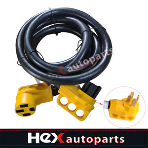 RV Extension Cord 15 ft 50 amp w// Grip Handles Camper Trailer Power Supply Cable