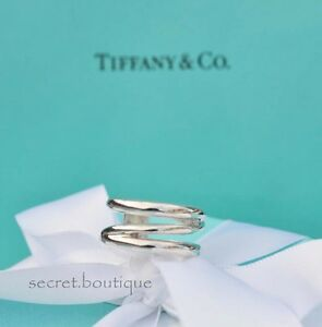 AUTHENTIC-Tiffany-amp-Co-Diagonal-Ring-Size-5-384