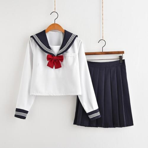 Japan jk sailor suit School shirt Skirt sleeve Uniform Cosplay Costume-08201