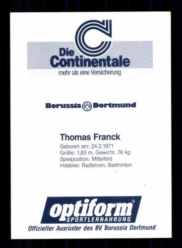 A 203723 Thomas Franck Autogrammkarte Borussia Dortmund 1990-91 Original
