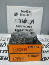Timken Lm102910 Roller Bearing Cup Lot Of 2 Nos