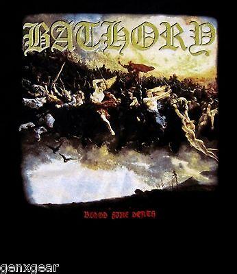 BATHORY cd cvr BLOOD FIRE DEATH Official SHIRT LRG new