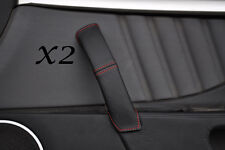 RED STITCHING FITS ALFA ROMEO BRERA 06-11 2X DOOR HANDLE LEATHER COVERS ONLY