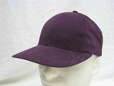 VINTAGE RED PURPLE ADJUSTABLE STRUCTURED  HAT CAP MADE IN USA (P-8)