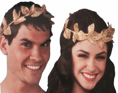 Adults Gold Leaf Roman Greek Laurel Headband Fancy Dress Theme Party Headpiece