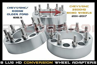 """4PC Wheel Spacers 8x180 to 8x180 For Chevy GMC 8 Lug 2500 3500 4x1.5 1.5/"""""""