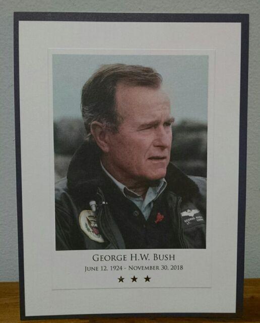 George H. W. Bush Memorial Photo Card U. S Capitol