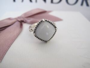 17f6eb9e5 Image is loading Pandora-silver-white-quartzite-ring-190858qw-retired-size-