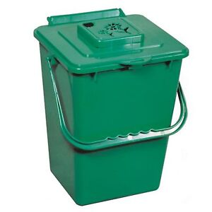 Kitchen Food Trash Compost Bin Bucket Pail Mini Countertop