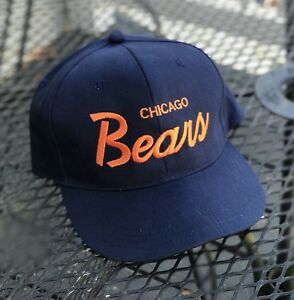 promo code 373bb 3877a Image is loading Vintage-Chicago-Bears-SnapBack-Hat-Cap-90s-Christmas-
