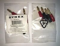Lot Of 2 Dynex Dx-av290 - Audio Connector - 14 Awg - Banana (m)