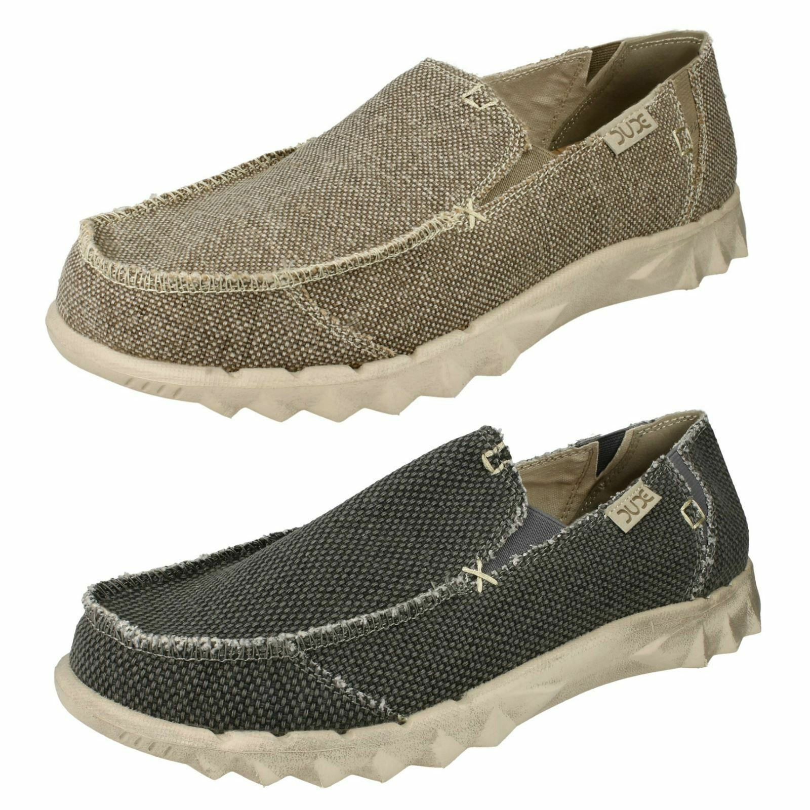 Uomo Intreccio Hey Dude Farty Intreccio Uomo Tela Scarpe Casual Slip-On 415d59