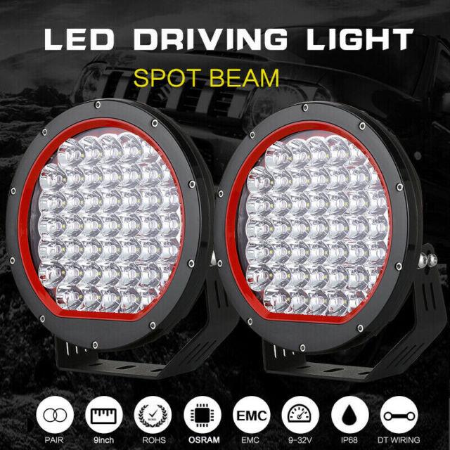 9 Inch OSRAM Round LED Driving Lights Offroad Spot 4x4 Spotlight Work Bar Black