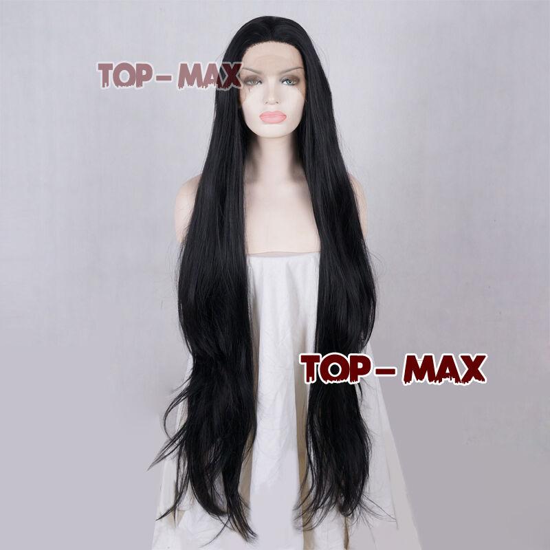 18-39 Inches Heat Resistant Wavy Lace Front Wig Synthetic Damen Schwarz TOP Haar  | Moderner Modus  | Moderner Modus  | Outlet  | Ermäßigung  | Düsseldorf Eröffnung