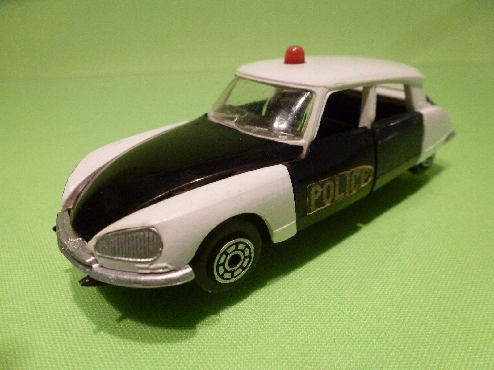 NOREV PLASTIK 158  DS 21 - POLICE - DARK BLUE + WHITE 1:43 - GOOD CONDITION
