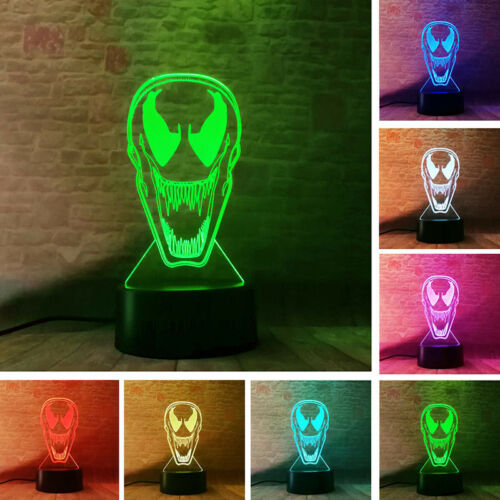 Venom Agents 3D LED Illusion Nightlight Fairy Light Desk Lamp
