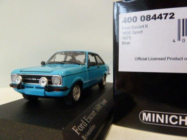 Ford escort 1600 sport mkii  1975 riviera bleu minichamps 400084472 1 43 bleu  en ligne pas cher