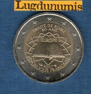 2 euro Commémo France 2007 Traité de Rome SUP SPL De Rouleau