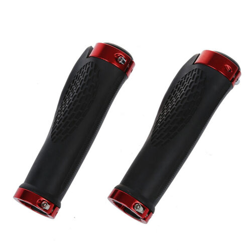 Pair Cycling MTB Bike Bicycle Handlebar Rubber Grips Comfortable Red I1L6