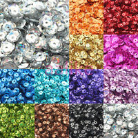NEW DIY 4mm Round Faceted Loose Sequins Paillettes Sewing Wedding Clothes Craft