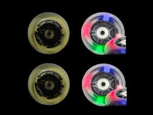 4-x-P-U-Cityroller-Scooter-Rad-Ersatzraeder-Leuchtraeder-100mm