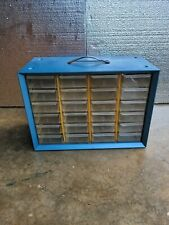 Vintage Metal Akro Mills Small Parts Storage Organizer Cabinet Bin 24 Drawer