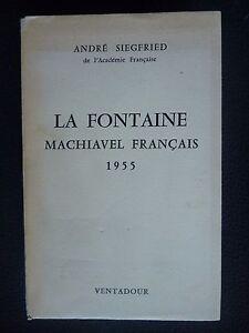 La Fontaine machiavel français - France - Langue: Franais - France