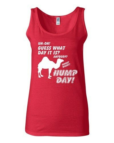 Junior Uh-Oh Guess What Day Is It? Whoot Hump Day Graphic Tank Top Whoot
