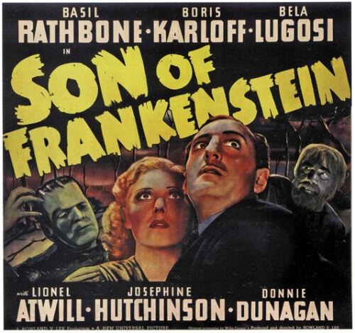 Son of Frankenstein 1939 Bela Lugosi Boris Karloff Horror movie poster 13