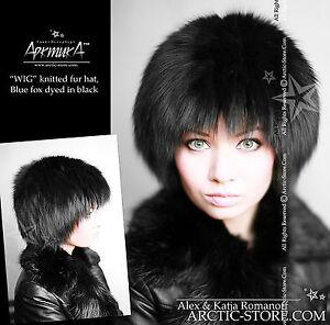 Original Ruso Piel Sombrero Knitten Gorro Base Raro Exclusivo Diseño Negro Nuevo