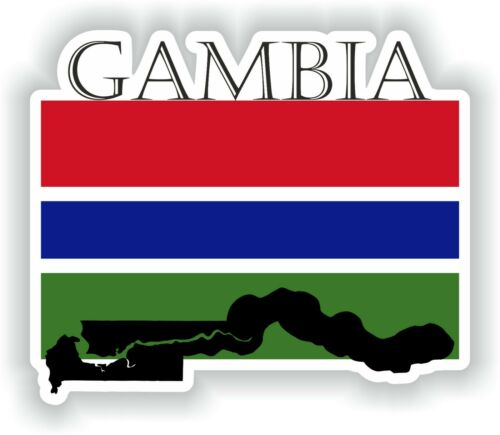 Sticker of Gambia Decal for Bumper Travel Car Laptop Tablet Suitcase Hollidays