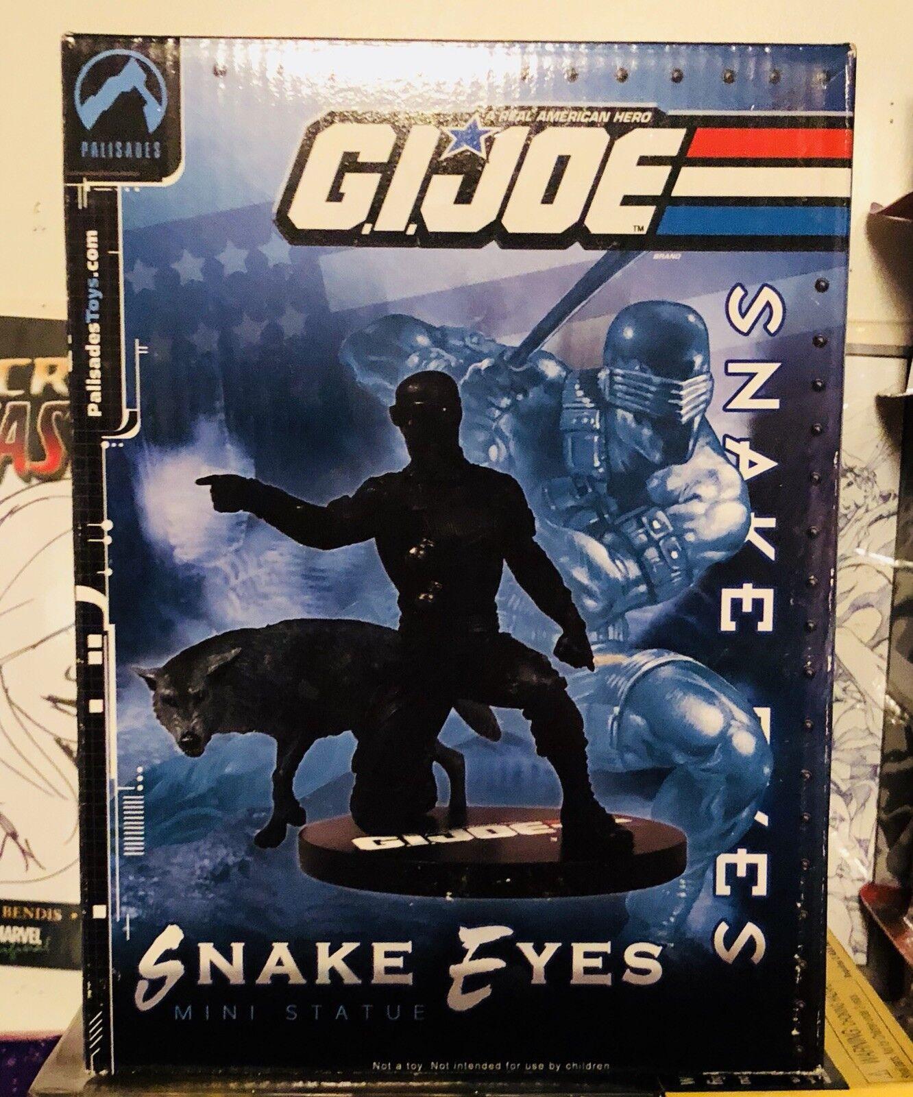G.i. joe  snake eyes  mini - statue, palisaden, hasbro begrenzt, selten.