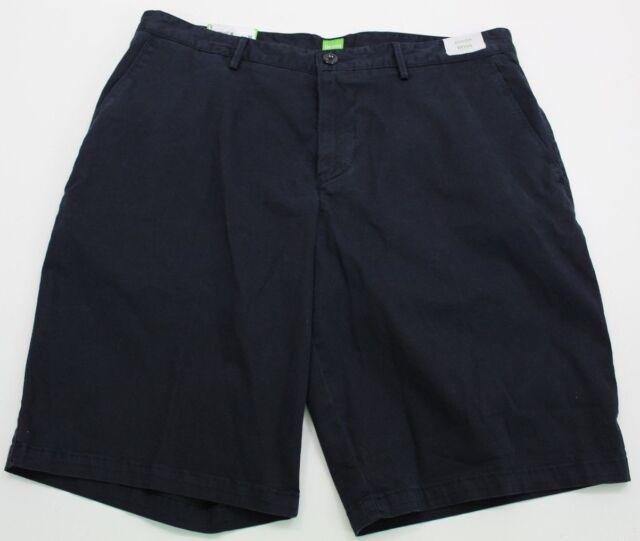 Hugo Boss Green C Clyde 2 Shorts Mens 34 Regular Khaki Stretch Cotton NWT $95