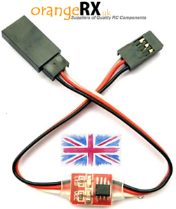 RC-Servo-Speed-Reducer-Delay-Module-5V-6V-RC-Plane-Flaps-Retracts-orangeRX-UK
