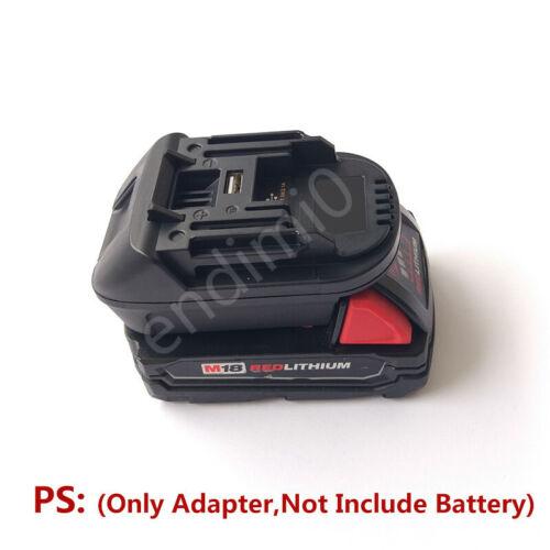 Milwaukee M18 18V Slider Li-ion Battery to Makita 18V Tools BL18 Series Adapter