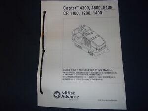 Advance captor 4300 / 4800 / 5400 floor scrubber [caliber equipment].