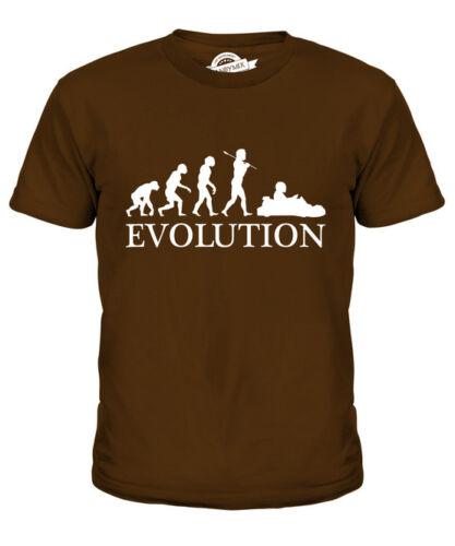 Go Kart Racing Evolution of Man Kids T-shirt Tee Top Cadeau Vêtements