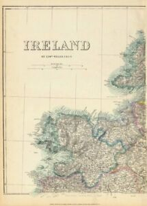 Map Of The West Of Ireland.Details About Ireland North West Mayo Sligo Donegal Connacht Weller Dispatch Atlas 1863 Map