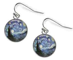 Glass Picture Cufflinks Silver Plated Rosetta London The Great Wave Hokusai